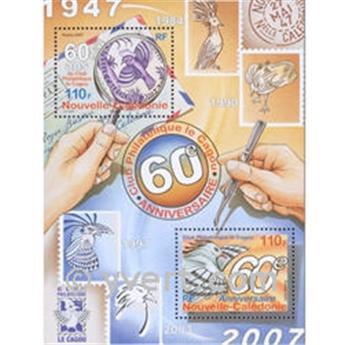 n.o 37 -  Sello Nueva Caledonia Bloque y hojitas