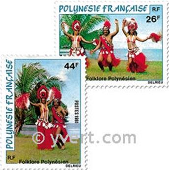 n.o 165/167 -  Sello Polinesia Correos