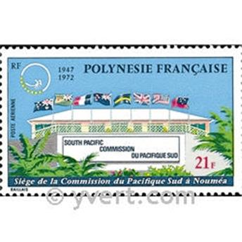 n° 62 -  Selo Polinésia Correio aéreo