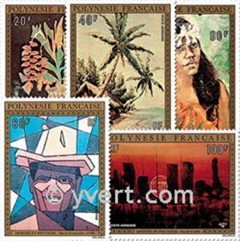 n° 84/88 -  Selo Polinésia Correio aéreo