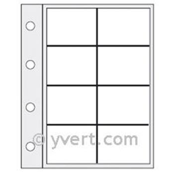 Recambios rígidos «CARAVELLE»: 8 compartimentos (TARJETAS TELEFÓNICAS)