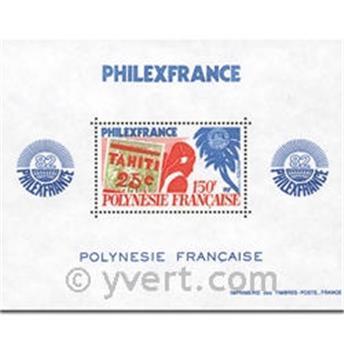 n° 6 -  Timbre Polynésie Bloc et feuillets