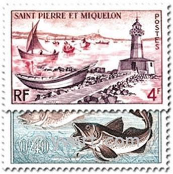 n.o 353/357 -  Sello San Pedro y Miquelón Correos