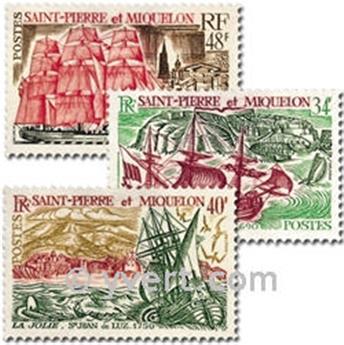 n.o 395/397 -  Sello San Pedro y Miquelón Correos