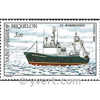 n.o 493 -  Sello San Pedro y Miquelón Correos