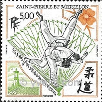 n.o 498 -  Sello San Pedro y Miquelón Correos