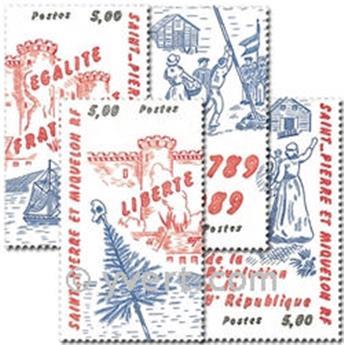n.o 504/507 (BF 3) -  Sello San Pedro y Miquelón Correos