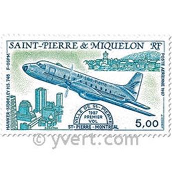 n.o 64 / 65 -  Sello San Pedro y Miquelón Correo aéreo