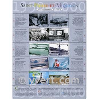 n° 9 -  Timbre Saint-Pierre et Miquelon Bloc et feuillets