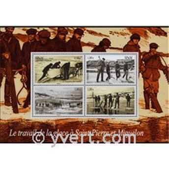 n° 13 -  Timbre Saint-Pierre et Miquelon Bloc et feuillets
