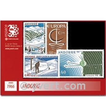 n° 175/178 -  Timbre Andorre Année complète (1966)
