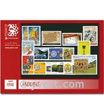 n° 497/511 -  Selo Andorra Ano completo (1998)