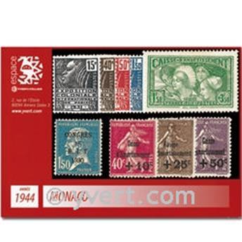 n° 265/273 -  Selo Mónaco Ano completo (1944)