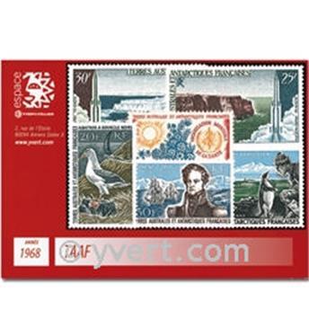 n° 24/27+PA14/16 -  Selo TAAF Ano completo (1968)