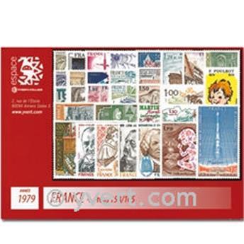 n° 79/85+PA56/60 -  Selo TAAF Ano completo (1979)