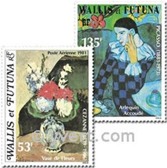 n° 110/111 -  Timbre Wallis et Futuna Poste aérienne