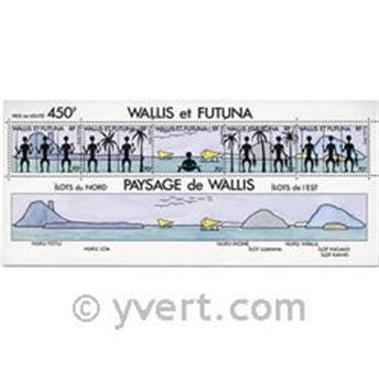 n° 6 -  Timbre Wallis et Futuna Bloc et feuillets
