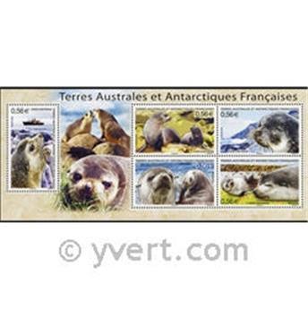 n.o 23 -  Sello Tierras Australes y Antárticas Francesas Bloque y hojitas