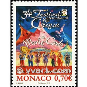 n° 2717 -  Selo Mónaco Correios
