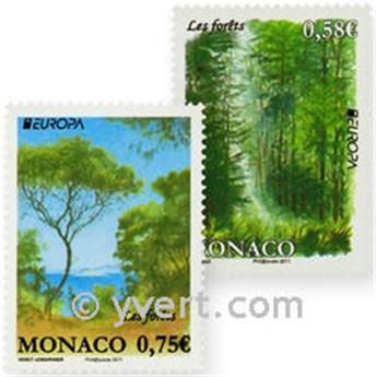 n° 2782/2783 -  Selo Mónaco Correios