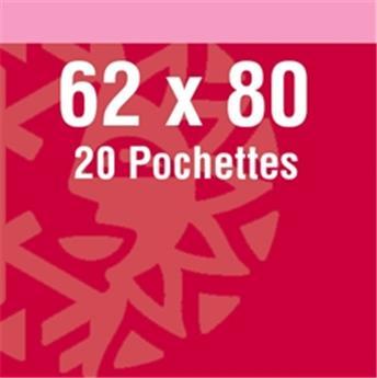 Pochettes double soudure - Lxh:62x80mm (Fond noir)