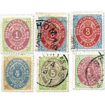 Antilles danoises. 6 timbres classiques */ obl.