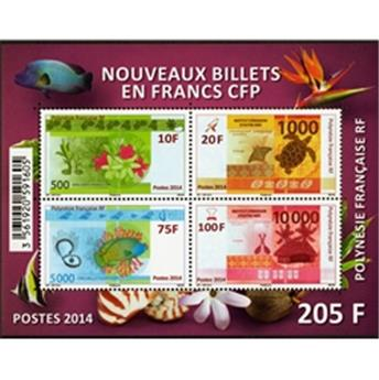 n.o  40 - Timbre Polynésie Bloques y hojitas