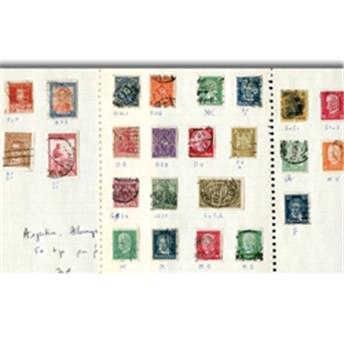 50 timbres perforés (Argentine, Allemagne, Autriche)
