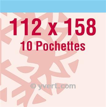 Pochettes double soudure - Lxh:112x158mm (Fond transparent)