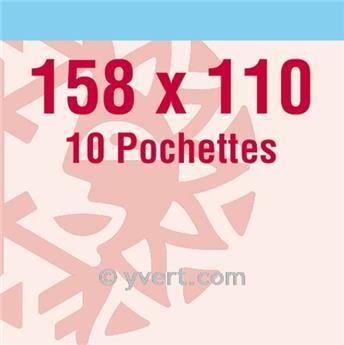 Pochettes double soudure - Lxh:158x110mm (Fond transparent)