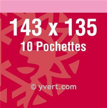 Filoestuches doble costura - AnchoxAlto: 143 x 135 mm (Fondo negro)