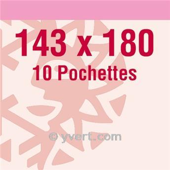 Pochettes double soudure - Lxh:143x180mm (Fond transparent)